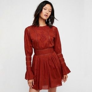 Free People Embroidered Steampunk Fit & Flare